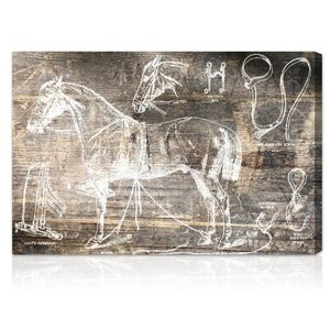 Horse Breaking Guide Graphic Art on Canvas by Trent Austin Design
