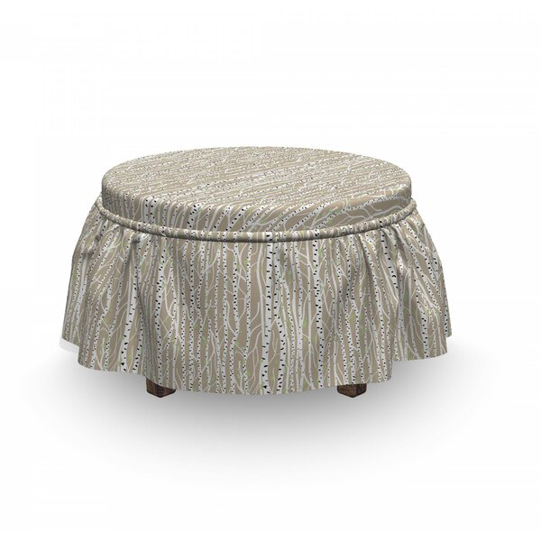 Trunks Spots Ottoman Slipcover (Set Of 2) By East Urban Home
