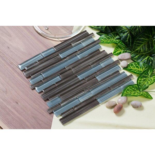 Mahi 12 x 12 Glass Mosaic Tile in Brown/Gray by Mirrella