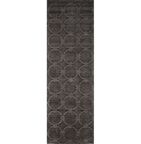 Amacker Hand-Woven Black/Brown Area Rug by Langley Street