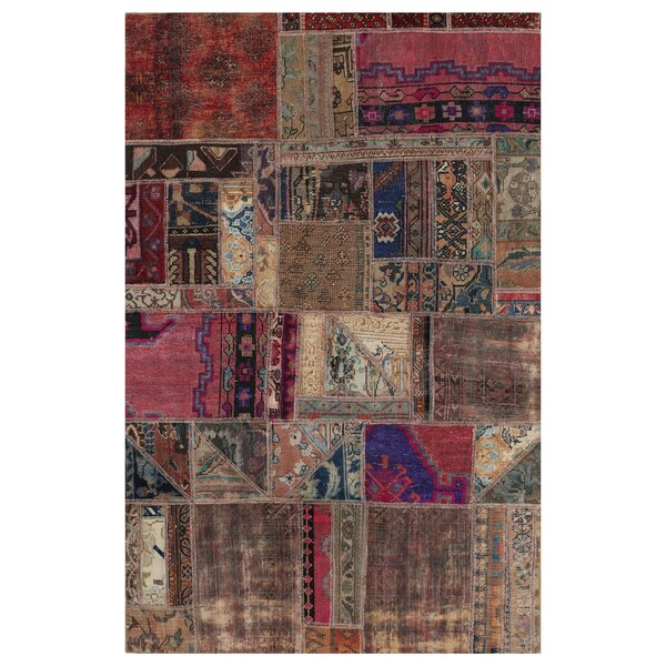 One-of-a-Kind Maxman Hand-Knotted Wool Brown Area Rug by Bloomsbury Market