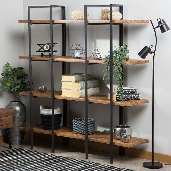 Carmel 4 Tier Etagere Bookcase by Williston Forge