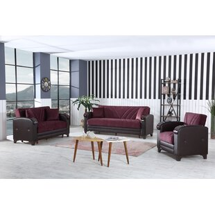 Senem 3 Piece Sleeper Living Room Set by Hometash