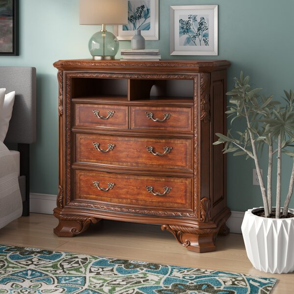 Brussels 4 Drawer Media Chest By Astoria Grand