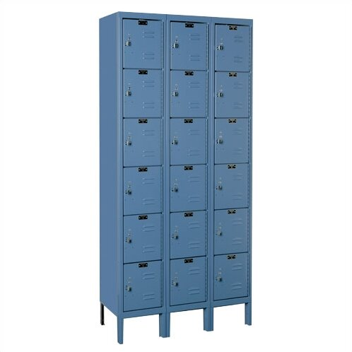 Premium 6 Tier 3 Wide Employee Locker by Hallowell