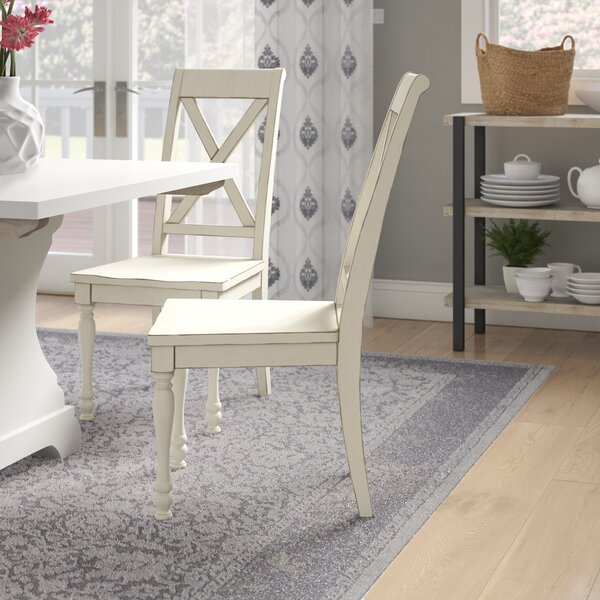Eminence Cross Back Side Chair In Cream By Ophelia & Co.