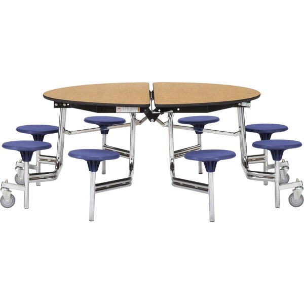 81 Circular Cafeteria Table by National Public Seating
