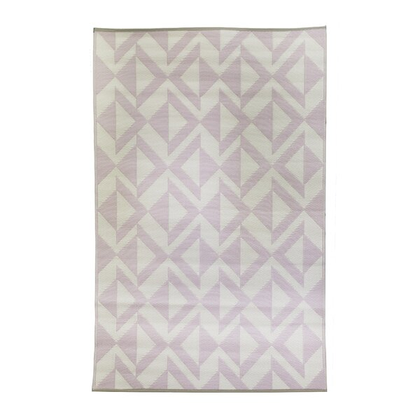 Premier Home Hand-Woven Blush/White Indoor/Outdoor Area Rug by Fox Hill Trading