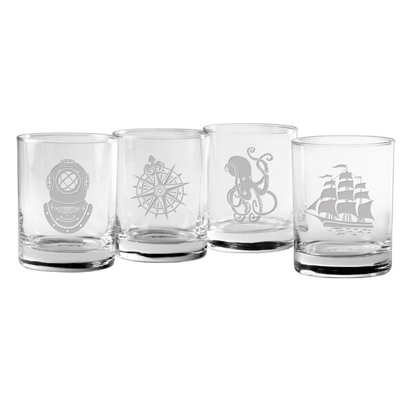 4 Piece Voyager 14 oz. Old Fashioned Glass Set by Susquehanna Glass