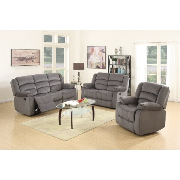 Updegraff Reclining 3 Piece Living Room Set