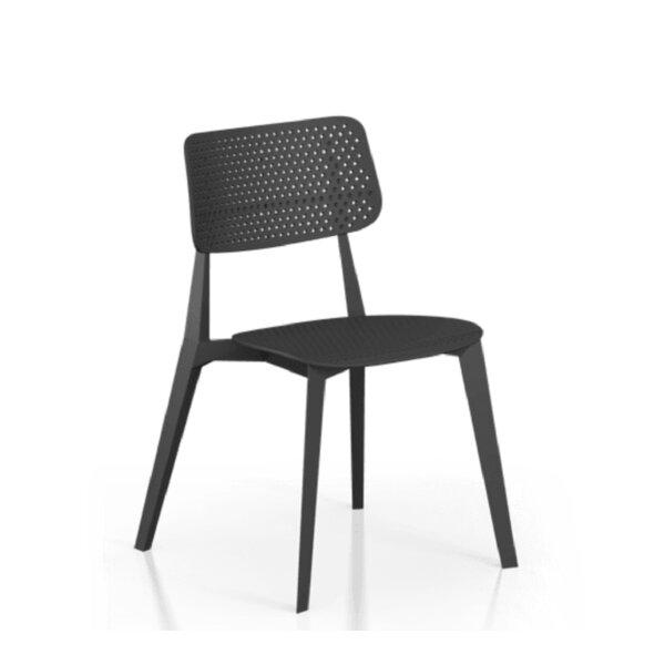 Catawissa Perforated Stacking Patio Dining Chair By Ebern Designs by Ebern Designs Comparison