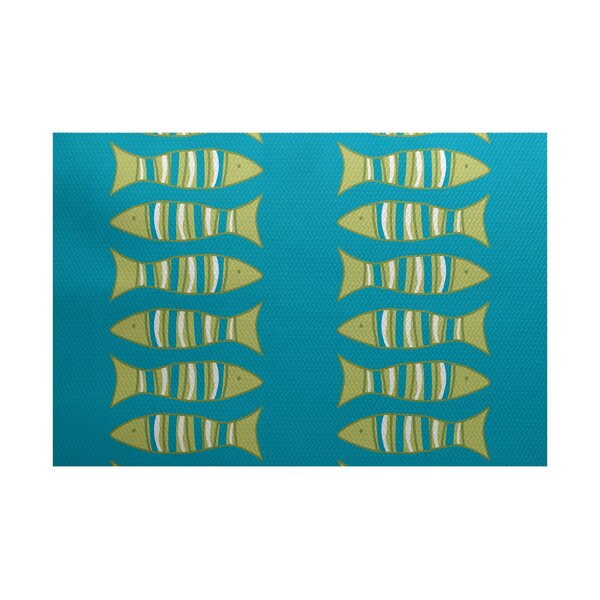 Grand Ridge Turquoise Indoor/Outdoor Area Rug by Bay Isle Home