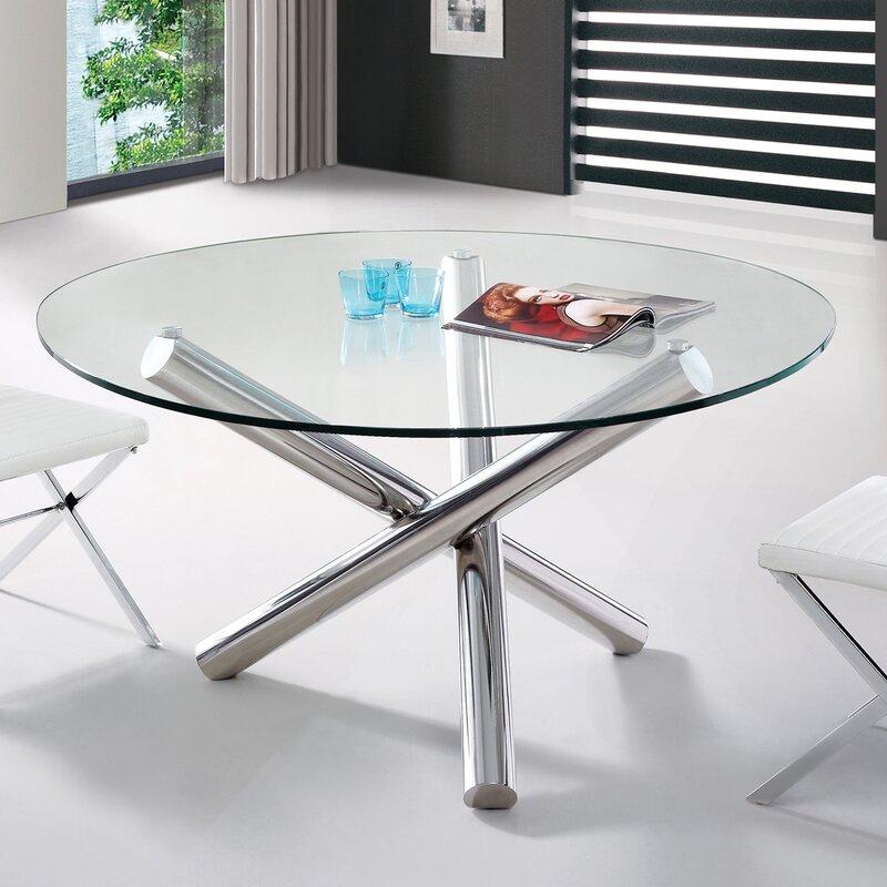 Orren Ellis Clower Modern Round Dining Table | Wayfair