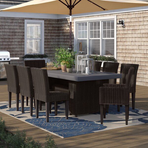 Fairfield 9 Piece Outdoor Patio Dining Set by Sol 72 Outdoor