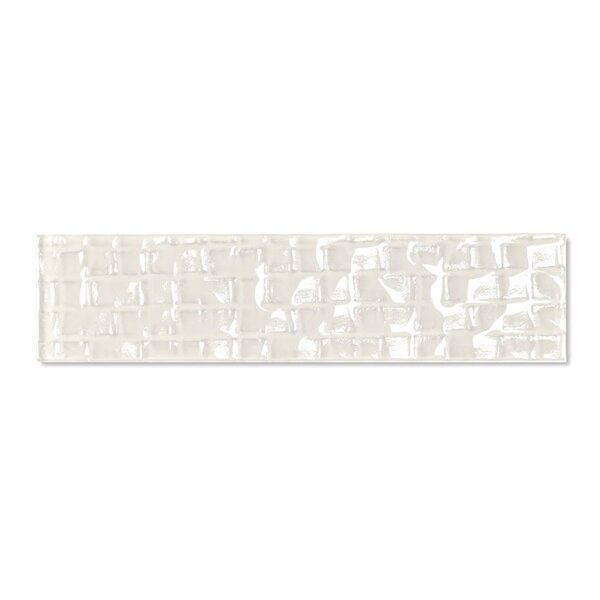 Metro 2 x 8 Glass Subway Tile in Cream by Abolos