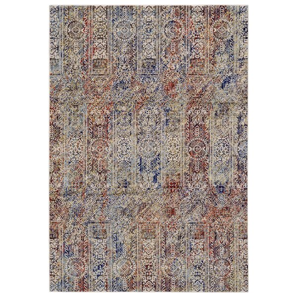 Greenwich Village Red/Blue Area Rug by Bungalow Rose
