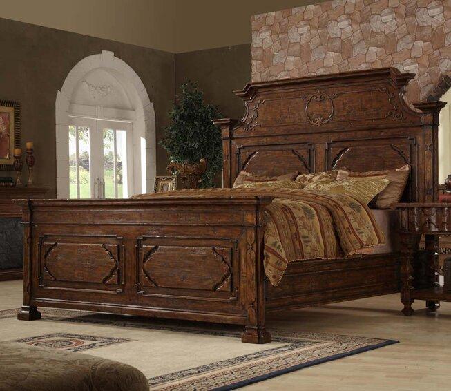 Easternlegends Burgundy King Panel Bed Reviews Perigold