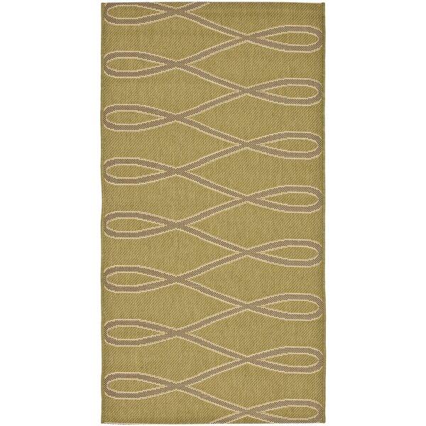Sherree Olive/Brown Indoor/Outdoor Area Rug