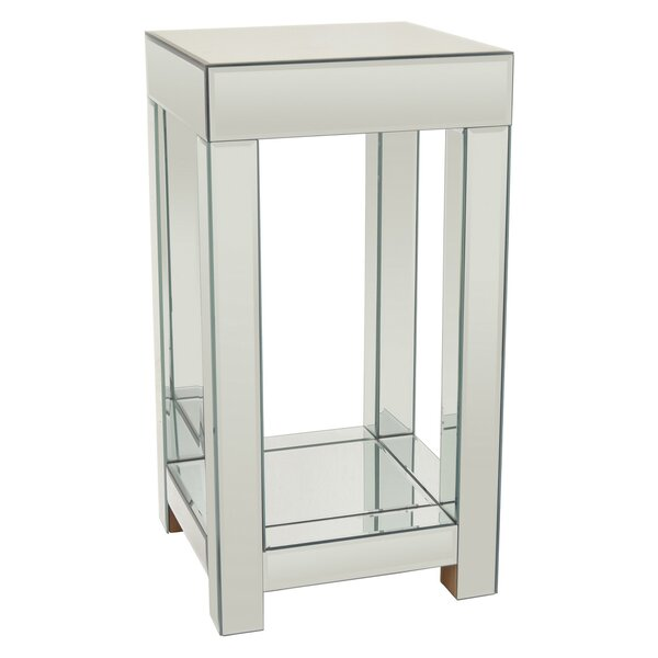 Theodora Mirrored End Table by Everly Quinn