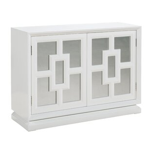 Inexpensive Emilie Mirrored 2 Door Cabinet ByWilla Arlo Interiors
