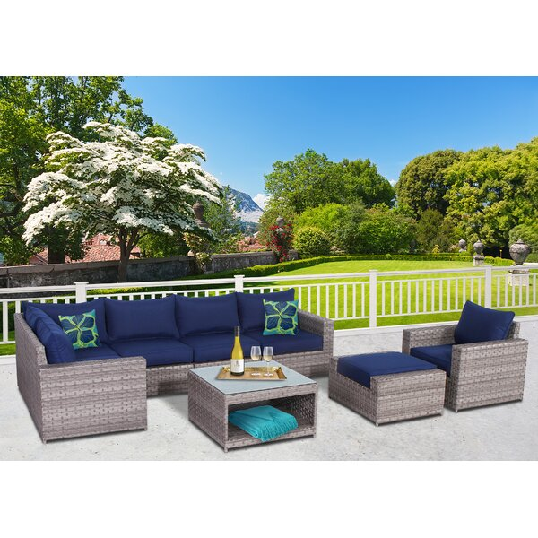 Kordell 8 Piece Sectional Set with Cushions by Sol 72 Outdoor