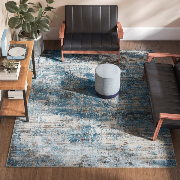 Hampson Blue Area Rug by Zipcode Design