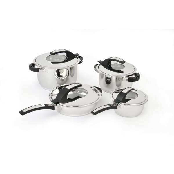 Virgo Stainless Steel 8-Piece Cookware Set by BergHOFF International