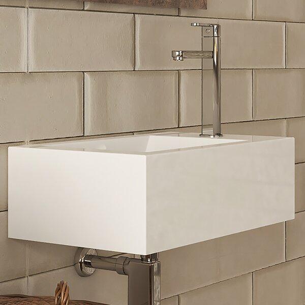 Allona Classically Redefined Vitreous China Rectangular Bathroom Sink with Overflow by DECOLAV