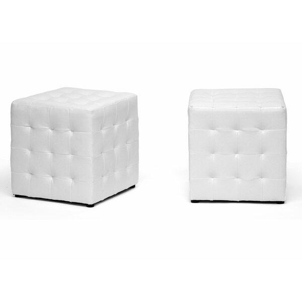 Iljan Tufted Cube Ottoman (Set Of 2) By Orren Ellis