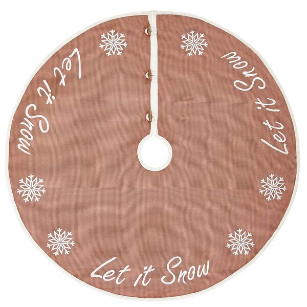 Let It Snow Tree Skirt by The Holiday Aisle