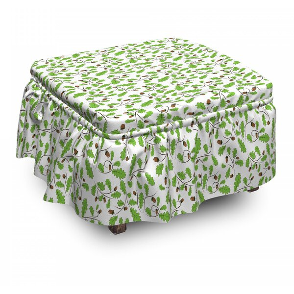 Abstract Swirls Ottoman Slipcover (Set Of 2) By East Urban Home