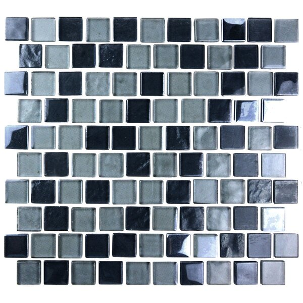 Landscape 1 x 1 Glass Mosaic Tile in Gray by Abolos