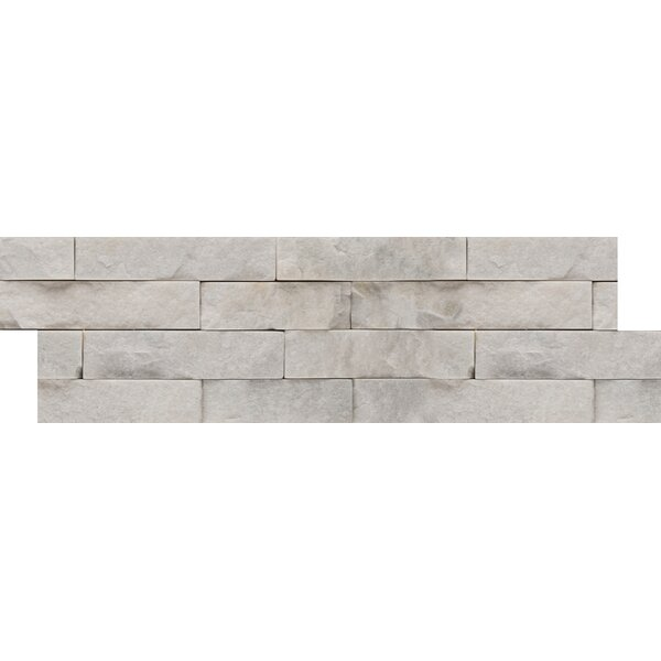 Natural Stone Random Sized Mosaic Tile in White by Emser Tile