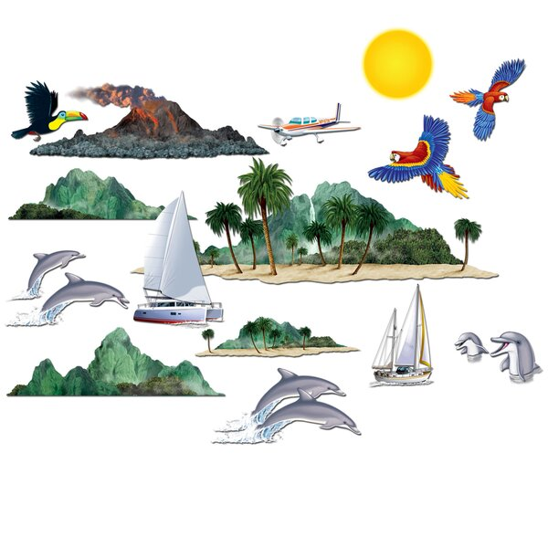 Tropical Cruise Props Wall Decal by The Beistle Company