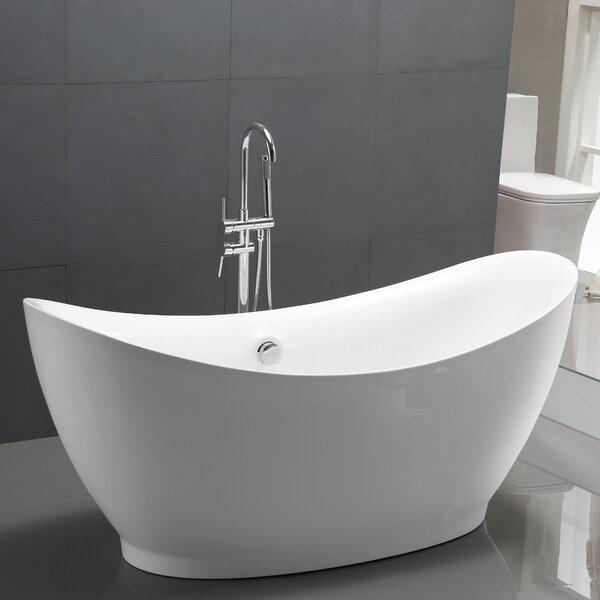67.5 x 31.5 Freestanding Soaking Bathtub by Vanity Art