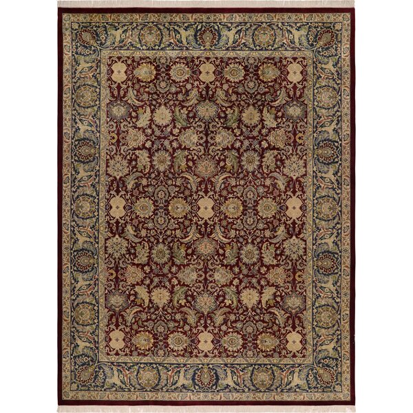 One-of-a-Kind Delron Hand-Knotted Wool Aubergine/Blue Area Rug by Astoria Grand