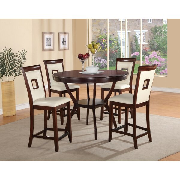 Bargain Cuellar Wooden 5 Piece Counter Height Dining Set By Fleur De Lis Living Sale