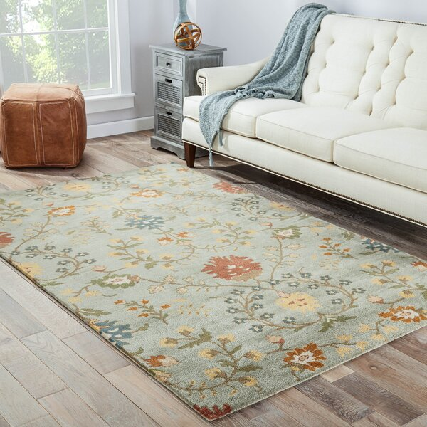 Woolrich Blue And White Floral Rug