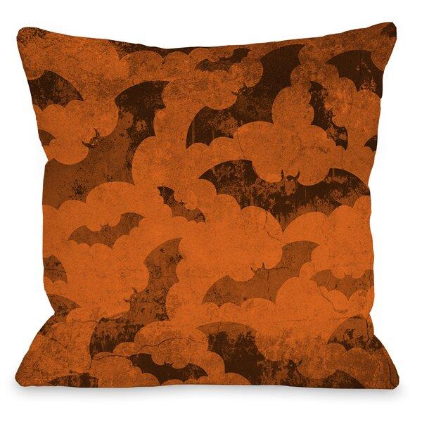 Flying Bats 2 Throw Pillow by One Bella Casa