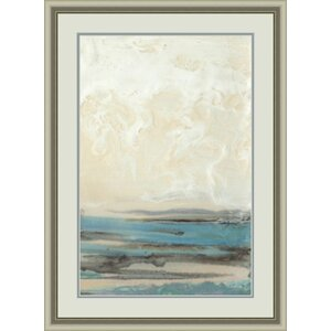 'Aqua Seascape II' Framed Painting Print by Global Designs