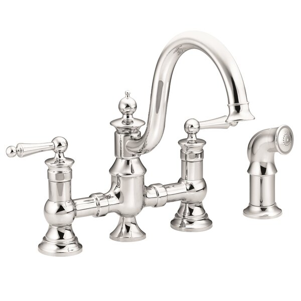 Waterhill Bar Faucet with Side Spray and Duralock™ by Moen