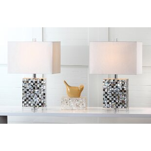 Reviews Thatcher 21.5 Table Lamp with Rectangular Shade (Set of 2) By Safavieh