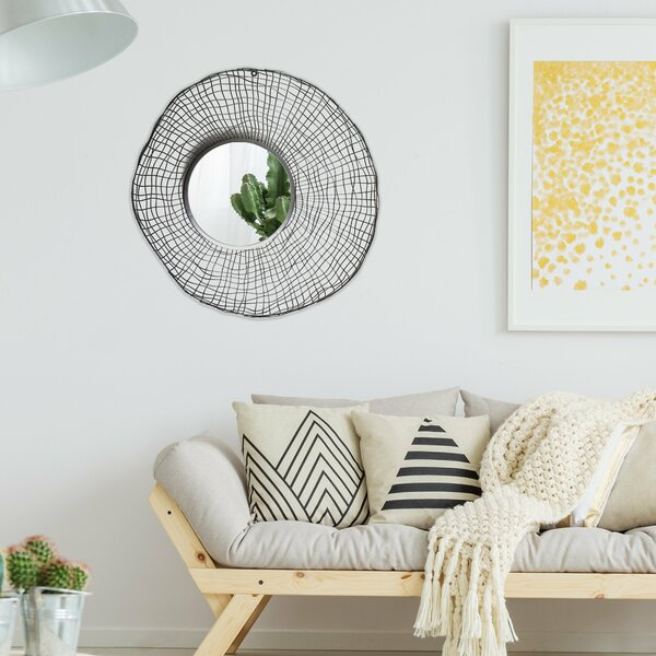 Hage Wire Nest Wall Mounted Mirror by Wrought Studio