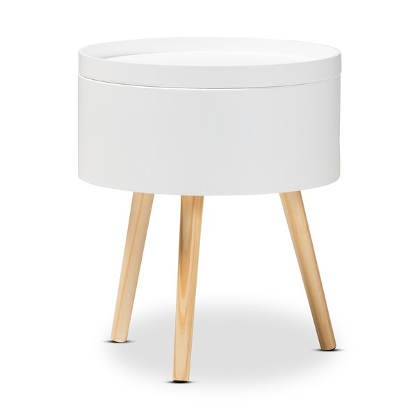 Cameron Mid-Century Modern Wood Nightstand by Hashtag Home