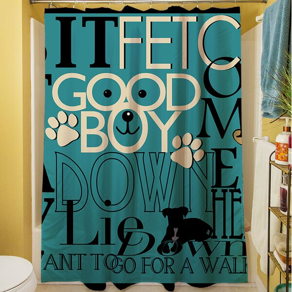 Dog Commands Shower Curtain by Manual Woodworkers & Weavers