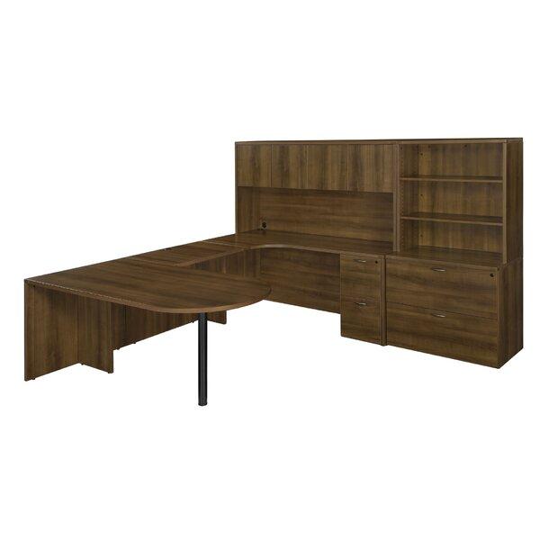 Fairplex 8-Piece L-Shape Desk Office Suite by Flexsteel Contract
