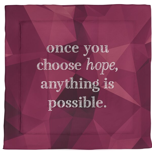 Choose Hope Quote Single Reversible Comforter