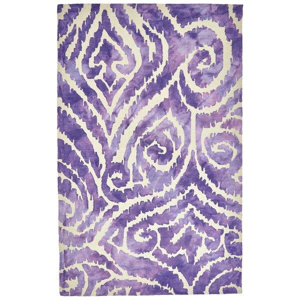 Emmeline Hand-Tufted Violet Indoor/Outdoor Area Rug by Ebern Designs