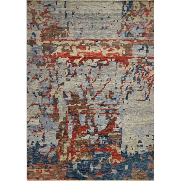 One-of-a-Kind Wobnar Oushak Gabriel Hand-Knotted Beige Area Rug by Brayden Studio