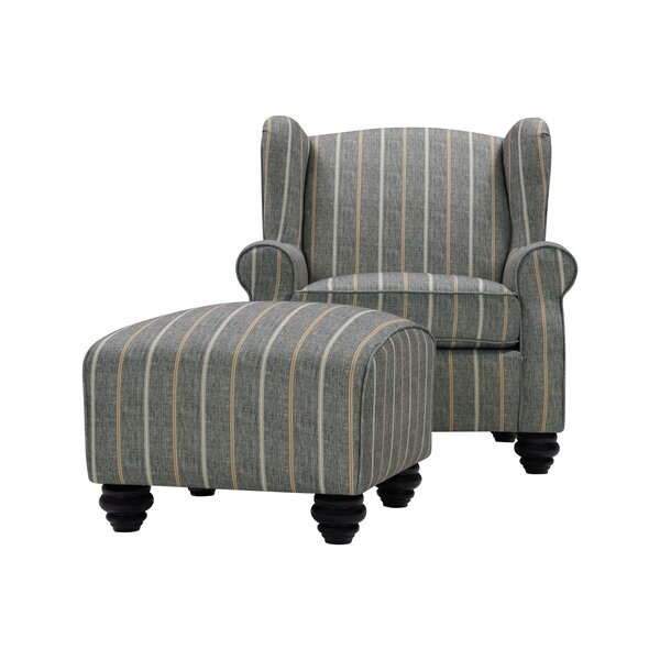 Meltzer Wingback Chair and Ottoman by Alcott Hill Alcott Hill